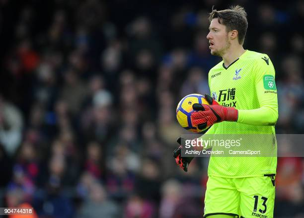 Crystal Palace's Wayne Hennessey during the Premier League match between Crystal Palace and Burnley at Selhurst Park on January 13 2018 in London...
