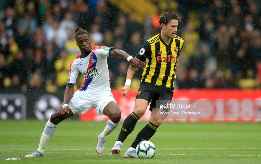 Crystal Palace's Wilfried Zaha And Watford's Daryl Janmaat