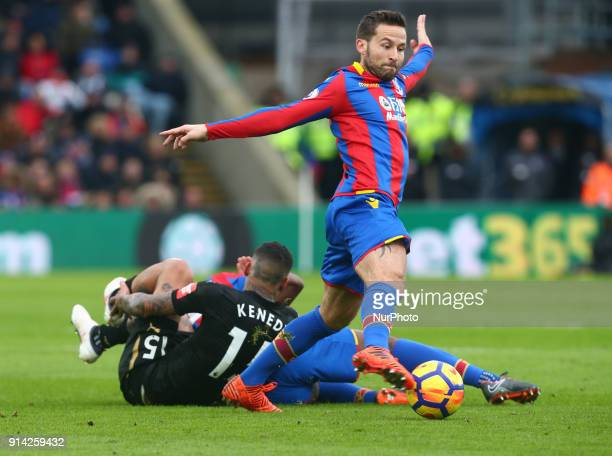 Crystal Palace's Yohan Cabaye during Premier League match between Crystal Palace and Newcastle United at Selhurst Park Stadium London England on 04...