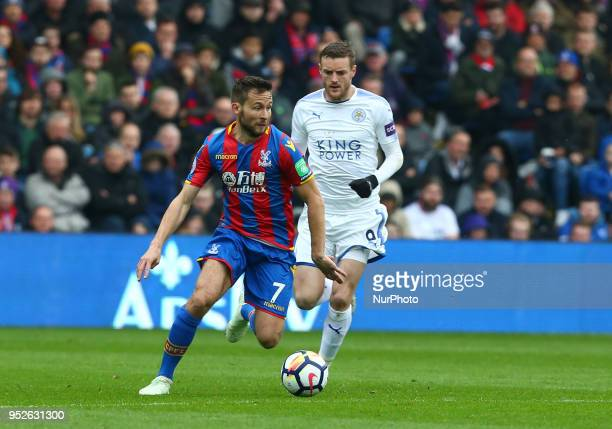 Crystal Palace's Yohan Cabaye during the Premiership League match between Crystal Palace and Leicester City at Selhurst Park London England on 28...