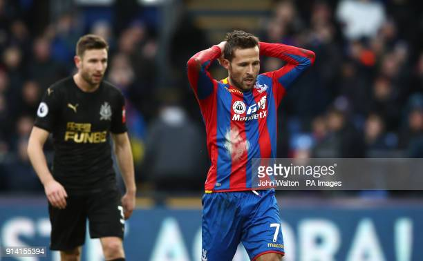Crystal Palace's Yohan Cabaye looks dejected during the Premier League match at Selhurst Park London