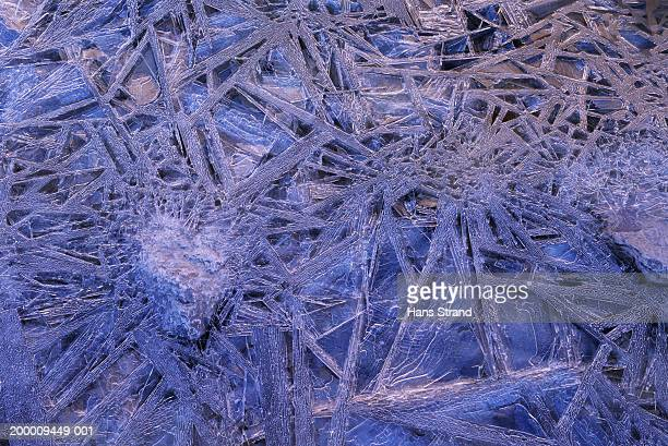 Crystal pattern on frozen lake