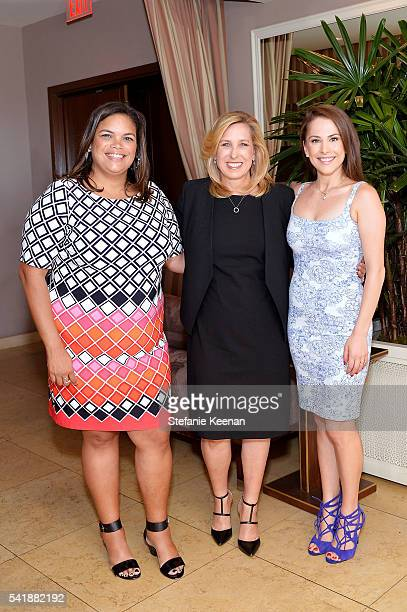 Crystal Patterson Wendy Greuel and Ana Kasparian attend Glamour and Facebook Host Power Players In Hollywood Politics Lunch at Sunset Tower in West...