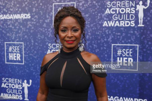 Crystal R Fox attends the SeeHer platform at the 26th annual Screen Actors Guild Awards @seeHER2020 at The Shrine Auditorium on January 19 2020 in...