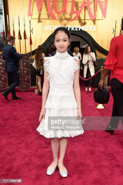 Crystal Rao attends the World Premiere of Disney's 'MULAN' at the Dolby Theatre on March 09 2020 in Hollywood California