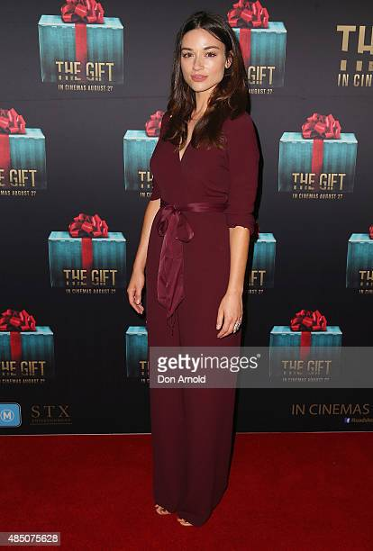 Crystal Reed arrives ahead of 'The Gift' Sydney Premiere at Event Cinemas George Street on August 24 2015 in Sydney Australia