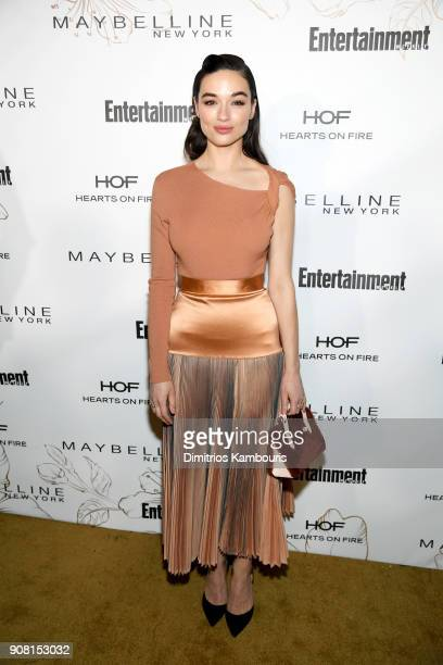 Crystal Reed attends Entertainment Weekly's Screen Actors Guild Award Nominees Celebration sponsored by Maybelline New York at Chateau Marmont on...