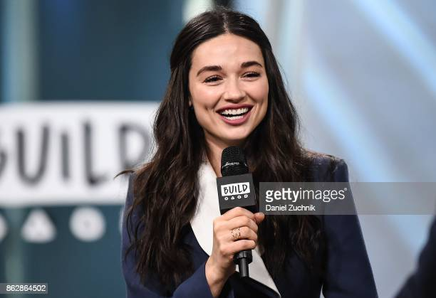 Crystal Reed attends the Build Series to discuss her role in 'Gotham' at Build Studio on October 18 2017 in New York City