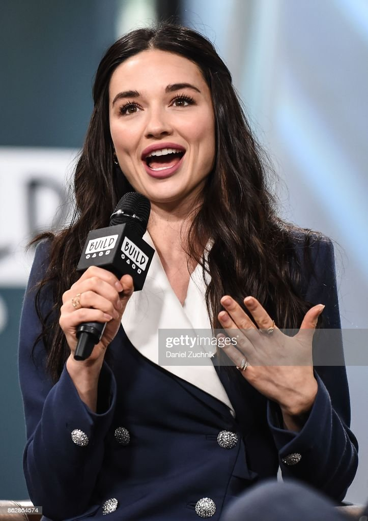 Crystal Reed attends the Build Series to discuss her role in 'Gotham' at Build Studio on October 18, 2017 in New York City.