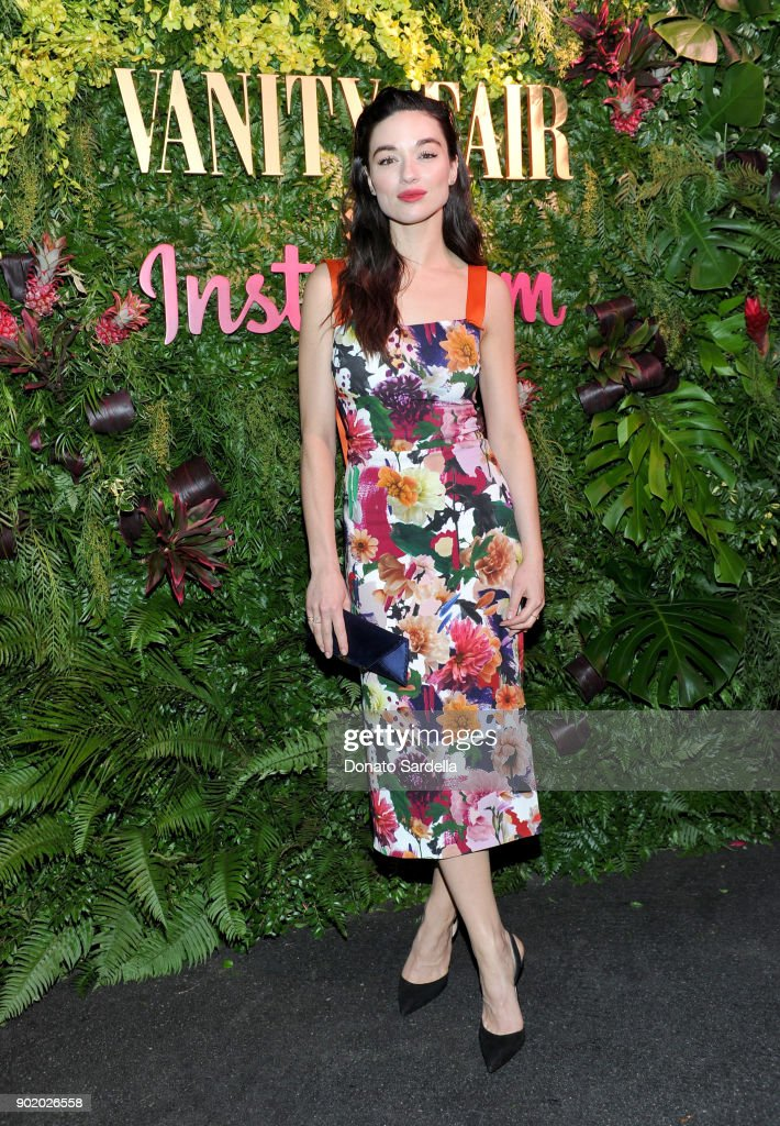 Crystal Reed attends Vanity Fair x Instagram Celebrate the New Class of Entertainers at Mel's Diner on Golden Globes Weekend at Mel's Diner on January 6, 2018 in West Hollywood, California.