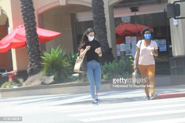 Crystal Reed is seen on May 28 2020 in Los Angeles CA