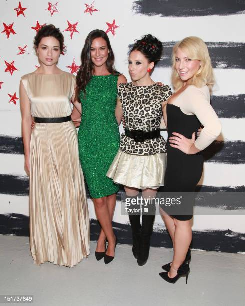 Crystal Reed Odette Annable designer Stacey Bendet and Ari Graynor attend the Alice Olivia By Stacey Bendet Spring 2013 MercedesBenz Fashion Week...