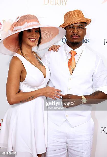 Crystal Renay and NeYo attend the 141st Kentucky Derby at Churchill Downs on May 2 2015 in Louisville Kentucky