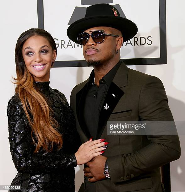 Crystal Renay and NeYo attend The 57th Annual GRAMMY Awards at the STAPLES Center on February 8 2015 in Los Angeles California