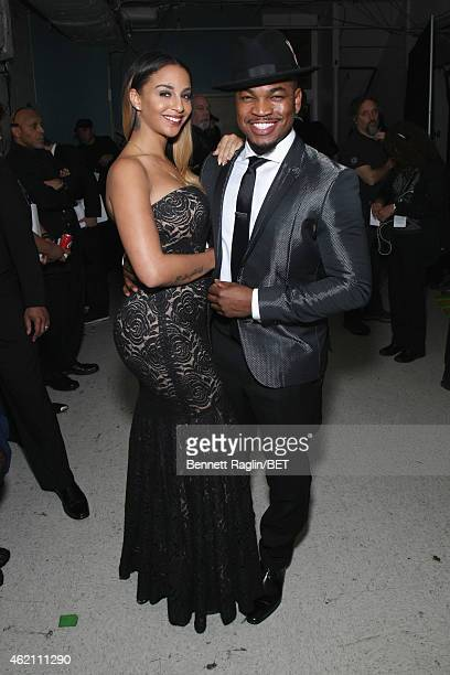 Crystal Renay and singer NeYo pose backstage during The BET Honors 2015 at Warner Theatre on January 24 2015 in Washington DC