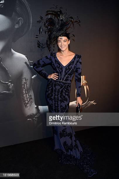 Crystal Renn attends Lady Gaga 'Fame' Eau de Parfum Launch Event at Guggenheim Museum on September 13 2012 in New York City