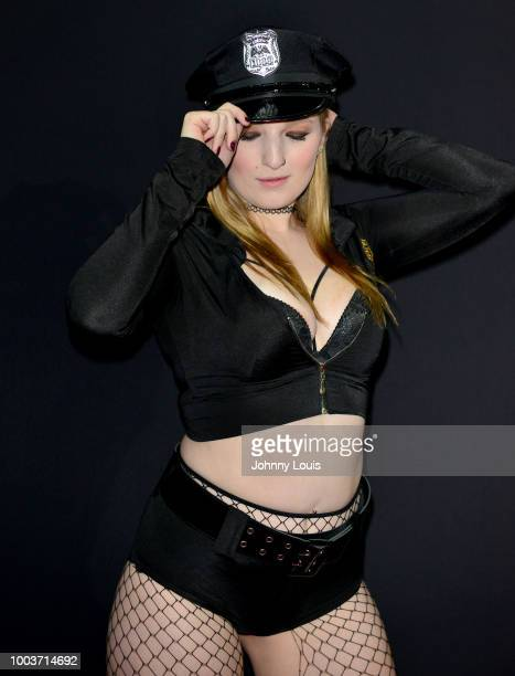 Crystal Rivers attends the EXXXOTICA Expo 2018 at Miami Airport Convention Center on July 21 2018 in Miami Florida