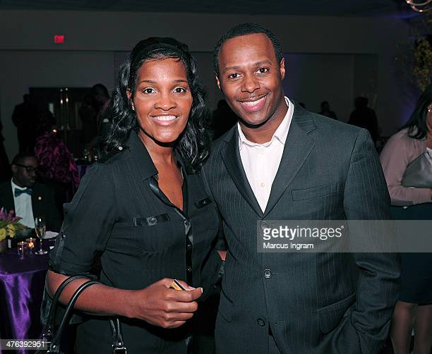 Crystal Smith and Micah Stampley attends EDS 10 Years of Pastoring and 25 Years of Preaching at Greater Travelers Rest Baptist Church on March 2 2014...