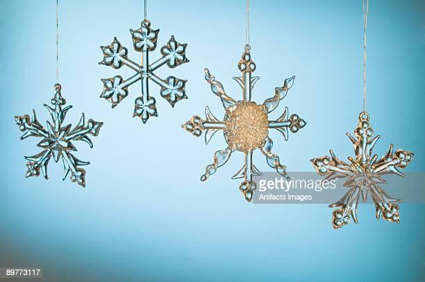 Crystal snowflake Christmas ornaments