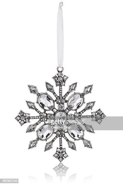Crystal snowflake Christmas tree decoration