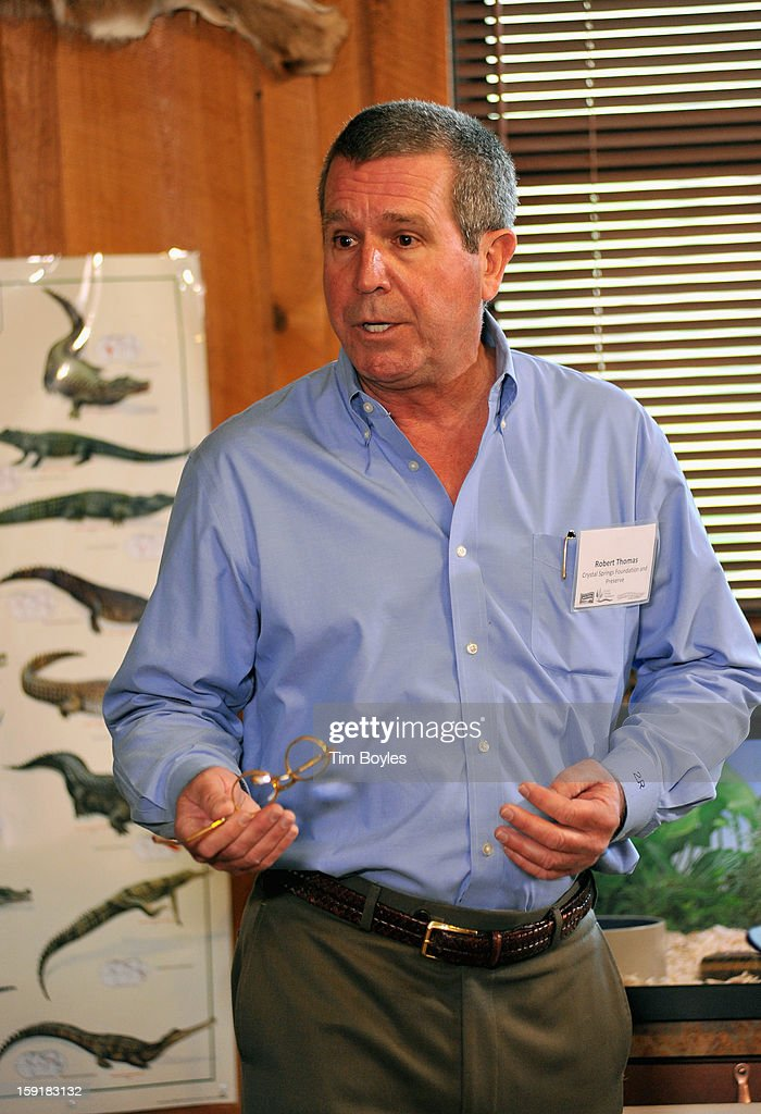Crystal Springs Preserve owner Robert Thomas speaks during the unveiling of WaterVentures, Florida's Learning Lab at Crystal Springs Preserve in partnership with Zephyrhills Brand 100% Natural Spring Water on January 9, 2013 in Crystal Springs, Florida.