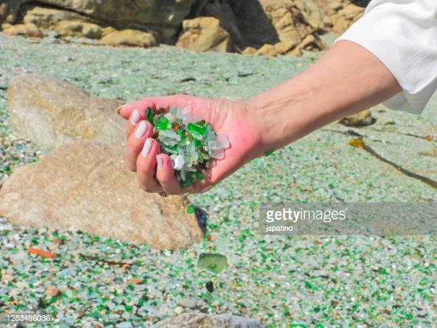 crystals beach - emerald gemstone stock pictures, royalty-free photos & images