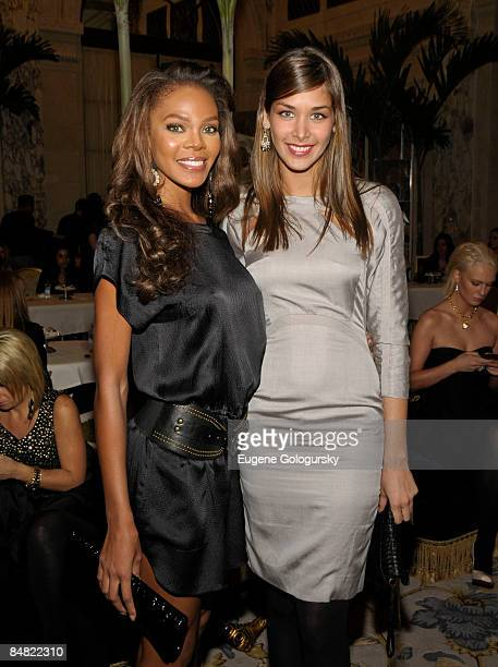 Crystle Stewart and Dayana Mendoza attend the Luca Luca presentation during MercedesBenz Fashion Week Fall 2009 on February 16 2009 in New York City