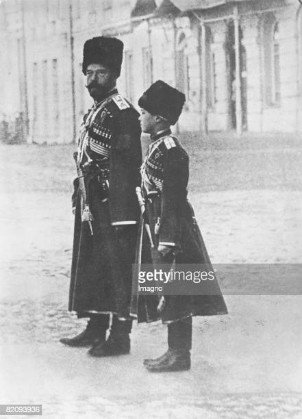 Csar Nikolaus II and the young prince Alexej Photograph June 30th 1938 [Zar Nikolaus II mit dem jungen Zar Alexander Photographie61938]