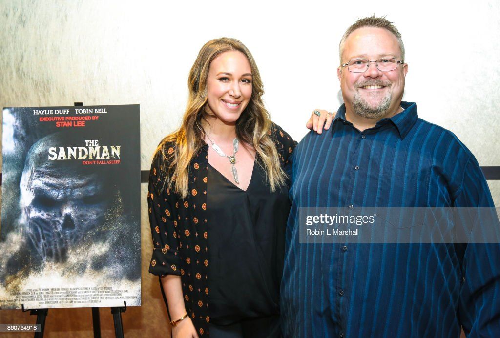 Csst memebr Haylie Duff and Director Peter Sullivan attend the premiere of SyFy's 'The Sandman' movie screening at ArcLight Sherman Oaks on October 12, 2017 in Sherman Oaks, California.