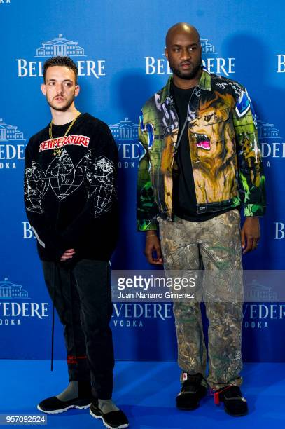 Tangana and Virgil Abloh attend Belvedere Vodka party at Capitol Cinema on May 10 2018 in Madrid Spain