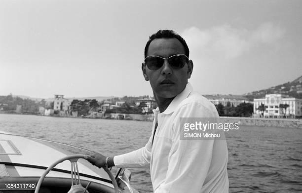 Côte d'Azur France août 1956 Le prince Moulay Hassan fils ainé du sultan du Maroc et ses trois surs les princesses Aicha Nezha et Malika en vacances...