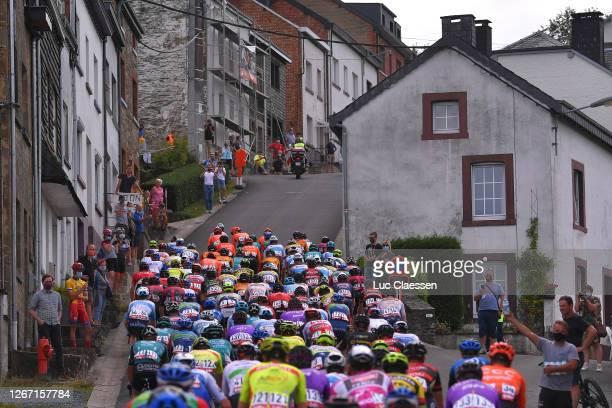 Côte de Saint-Roch / Houffalize City / Fans / Public / Landscape / Peloton / during the 41st Tour de Wallonie 2020, Stage 4 a 199,4km stage from...