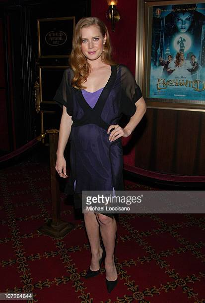 ctress Amy Adams arrives to a special screening Of 'Enchanted' at The Ziegfeld Theatre in New York City on November 19 2007