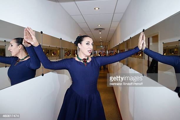 ctress Rossy de Palma presents the movie 'Une heure de tranquilite' during the 'Vivement Dimanche' French TV Show at Pavillon Gabriel on December 17...