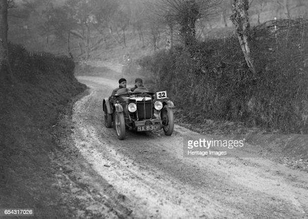 Type of HS Linfield competing in the Inter-Varsity Trial, 1930s. Artist: Bill Brunell. MG Standard C-type body. 1931 746 cc. Vehicle Reg. No. RX8306....