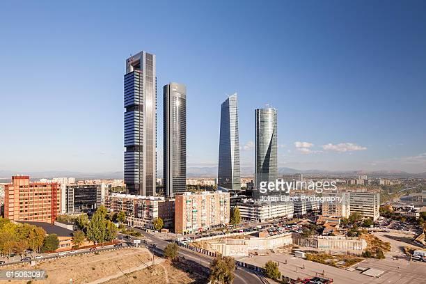 Cuatro Torres Business Area in Madrid, Spain.