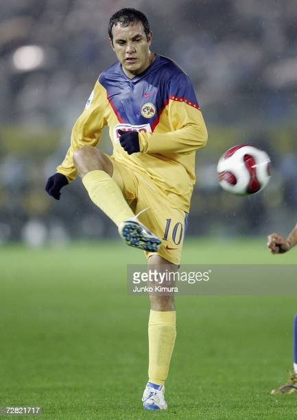 Cuauhtemoc Blanco of Club America in action during the FIFA Club World Cup Japan 2006 Semifinals between FC Barcelona v Club America at the...