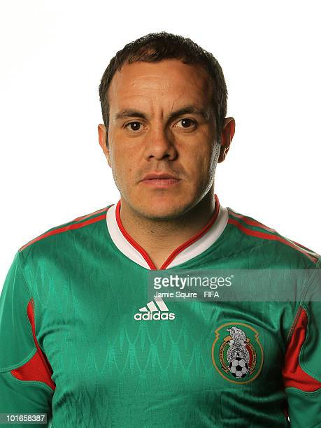 Cuauhtemoc Blanco of Mexico poses during the official FIFA World Cup 2010 portrait session on June 5 2010 in Johannesburg South Africa