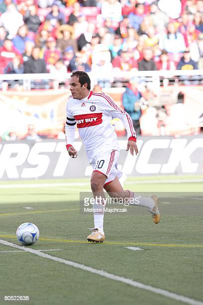 Cuauhtemoc Blanco of the Chicago Fire brings the ball up the field against the Real Salt Lake at Rice Eccels Stadium on March 29, 2008 in Salt Lake...