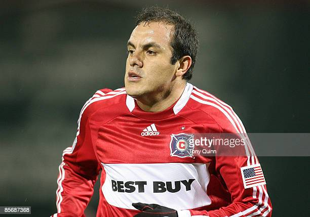 Cuauhtemoc Blanco of the Chicago Fire during an MLS match against D.C. United at RFK Stadium on March 28, 2009 in Washington, DC. The game ended in a...