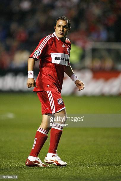 Cuauhtemoc Blanco of the Chicago Fire stands on the field during the second half against the Kansas City Wizards at Toyota Park on April 18 2009 in...