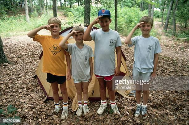Cub Scouts Saluting