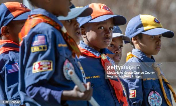 Cub Scouts with Friendship Baptist Church take part in the Orange County Black History Parade in Anaheim on Saturday February 23 2019