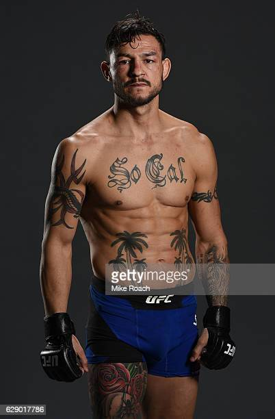 Cub Swanson poses for a portrait backstage after his victory over Dooho Choi of South Korea during the UFC 206 event inside the Air Canada Centre on...