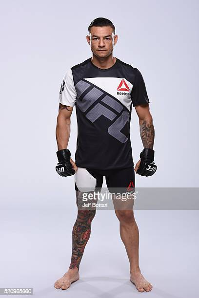 Cub Swanson poses for a portrait during a UFC photo session on April 13 2016 in St Petersburg Florida