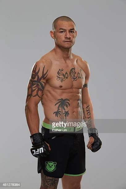 Cub Swanson poses for a portrait during a UFC photo session on June 25 2014 in San Antonio Texas