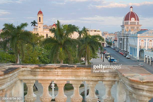 Cuba, Cienfuegos, Parque Marti, main square, view from balcony