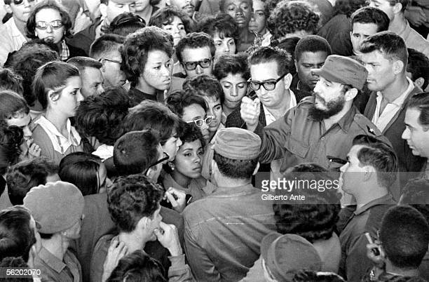 Cuba. Fidel Castro opening the Jose A. Echevarria's student hall of residence. About 1960.