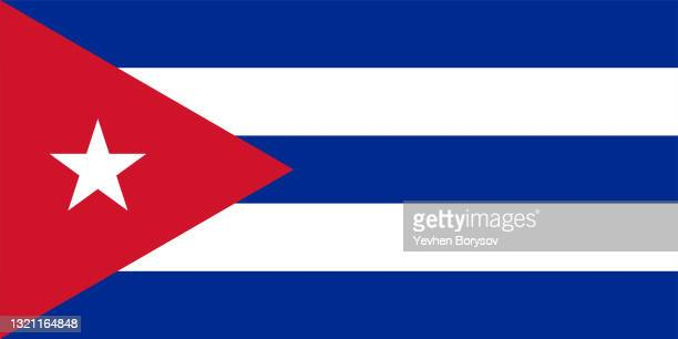 cuba flag simple illustration for independence day or election - cuban flag stock pictures, royalty-free photos & images