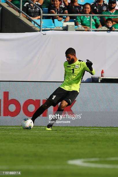Cuba goalkeeper Sandy Sanchez kicks the ball during the 1st half of the CONCACAF Gold Cup game with Canada versus Cuba on June 23rd at Bank of...